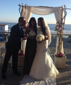 Bride and Maid of Honor with brother