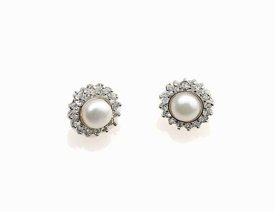 "The ""Joni"" Pearl Stud Earring"