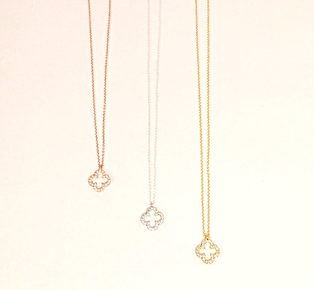 Tiffany Clover Crystal Pendant
