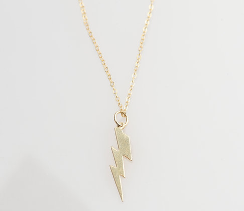 "Gold ""LighteningStrikes"" Necklace"