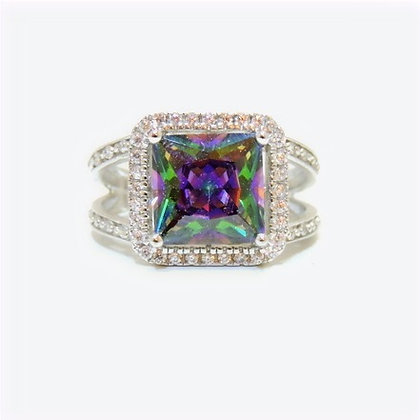 JDF Rainbow Topaz Ring