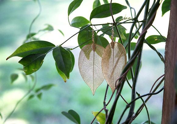 Karma Leaf Earring- Gold