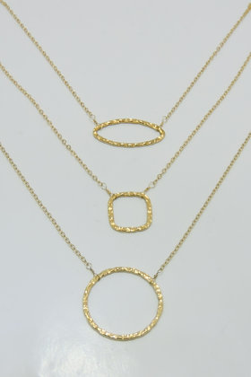 Karma Cirlce Necklace- Gold
