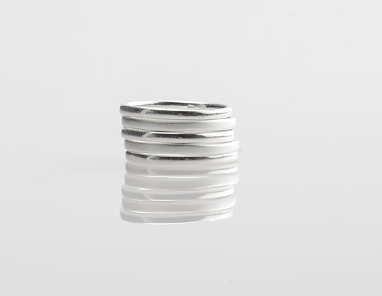 Multi-Texture Stacking Ring