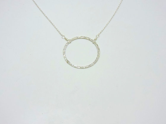 Karma Cirlce Necklace- Silver