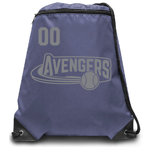 Avengers Zippered Drawstring Backpack