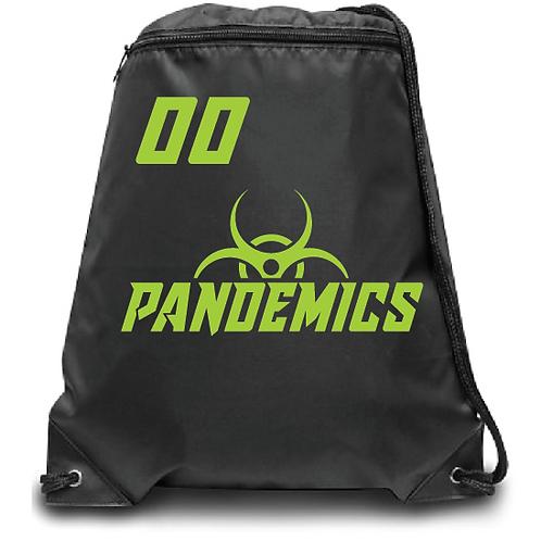 Pandemics  Soccer Zippered Drawstring Backpack
