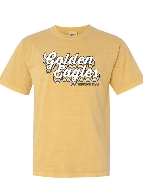 Retro Comfort Colors Golden Eagles Tee