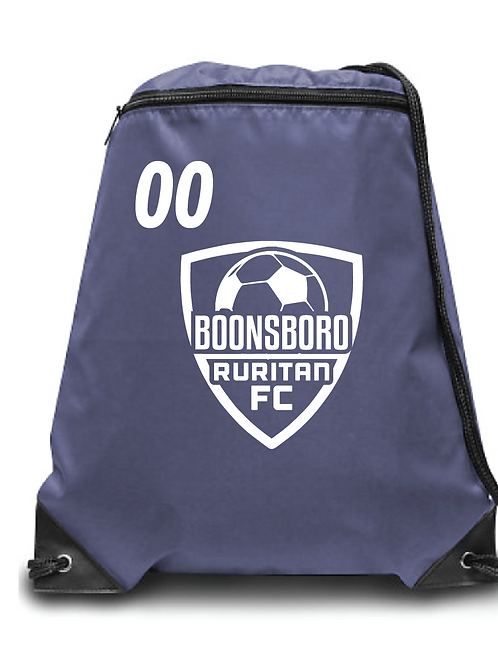 Boonsboro FC Soccer Zippered Drawstring Backpack
