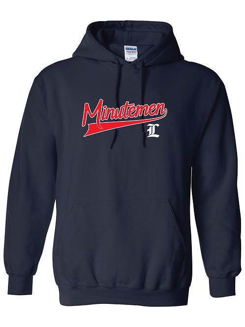 LHS Minutemen Baseball Look Hoodie