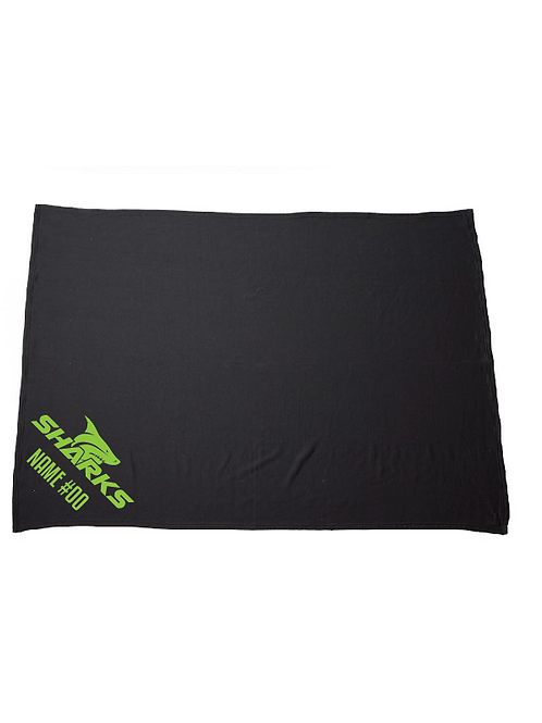 U8 Sharks Fleece Blanket (Customizable)