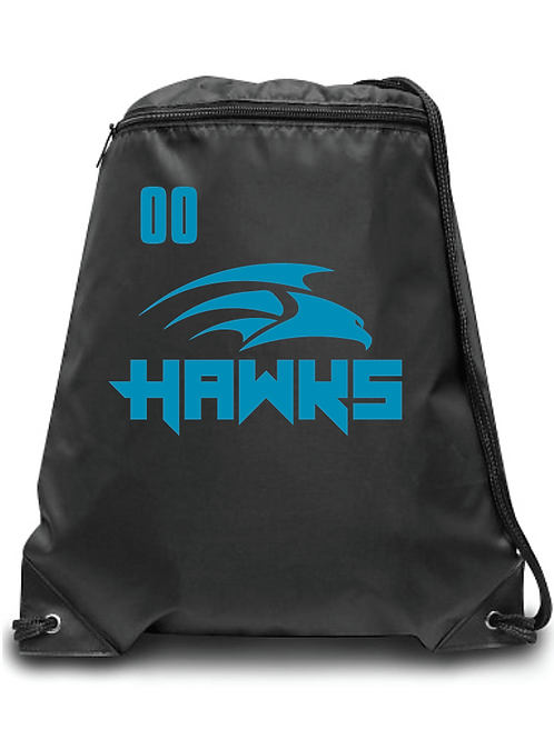 Hawks Zippered Drawstring Backpack