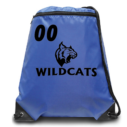Wildcats  Zippered Drawstring Backpack