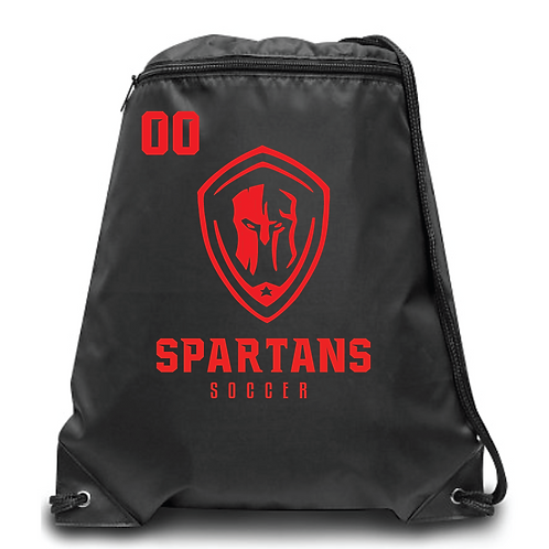 Spartans Zippered Drawstring Backpack
