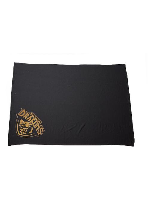 Golden Dragons Fleece Blanket (Customizable)