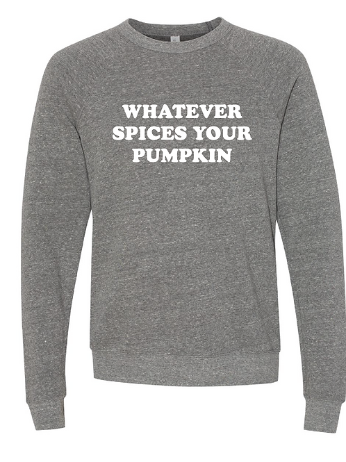 Unisex Sponge Raglan Fleece - Whatever Spices Your Pumkin