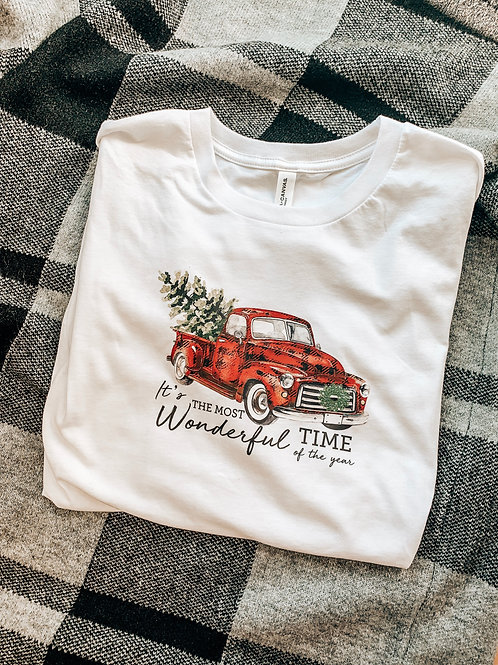 The Most Wonderful Time - Red Truck Longsleeve