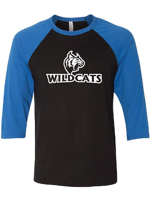3/4 Length Wildcats Softball Raglan