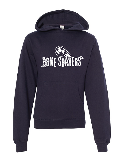 Youth Fleece Hoodie  Navy - Bone Shakers Soccer