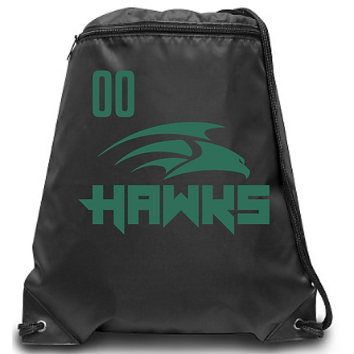 U12 Hawks Zippered Drawstring Backpack