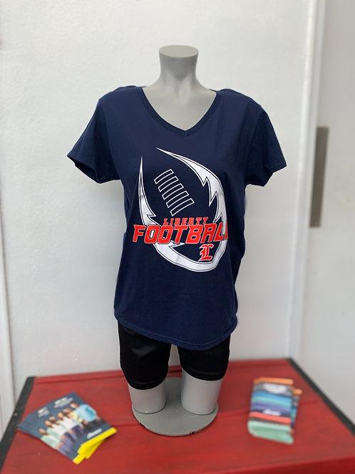 Women's V-Neck Liberty Football