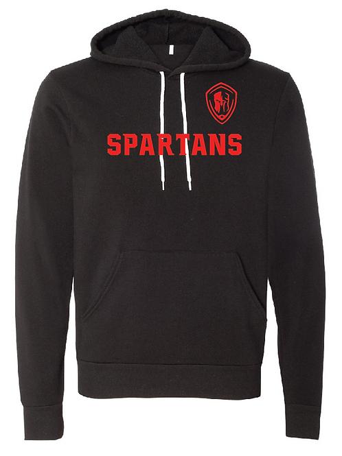 Unisex Fleece Hoodie - Spartans Soccer (Across Logo)