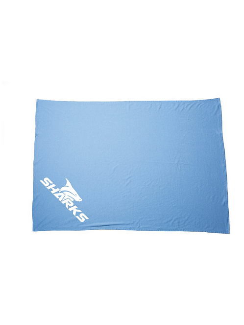 U6 Sharks Fleece Blanket (Customizable)