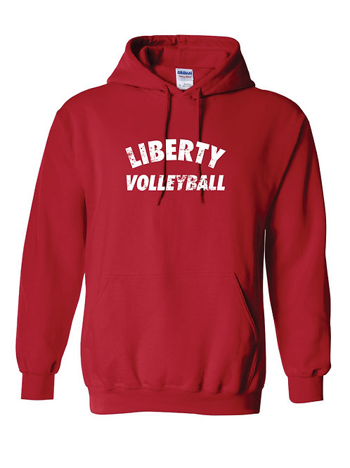 Liberty Volleyball Distress Hoodie