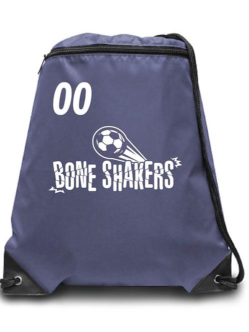 Bone Shakers  Soccer Zippered Drawstring Backpack