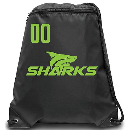 U8 Sharks  Soccer Zippered Drawstring Backpack