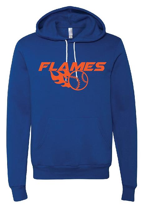 Unisex Fleece Hoodie - Flames