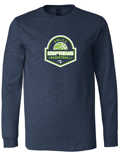 Unisex Long Sleeve Tee- SMLCA Basketball