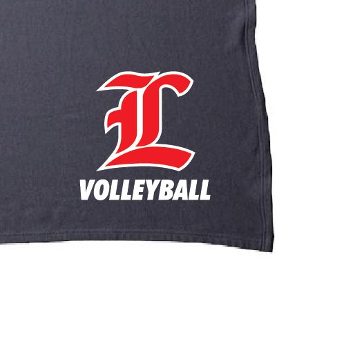 "Fleece Blanket - Liberty ""L"" Volleyball - INDBKTSB"