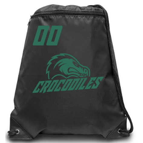 Crocodiles Zippered Drawstring Backpack