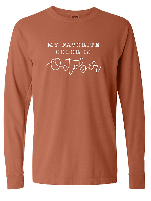 Comfort Colors - October