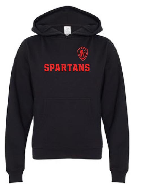 Youth Fleece Hoodie - Spartans Soccer (Across Logo)