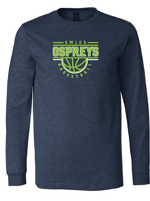 Unisex Long Sleeve Tee- SMLCA Basketball 2