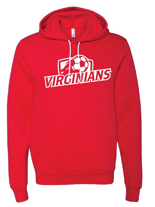 Unisex Fleece Hoodie - Virginians Soccer
