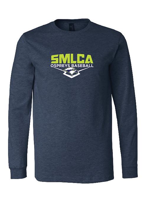 Unisex Long Sleeve Tee- SMLCA Ospreys Baseball