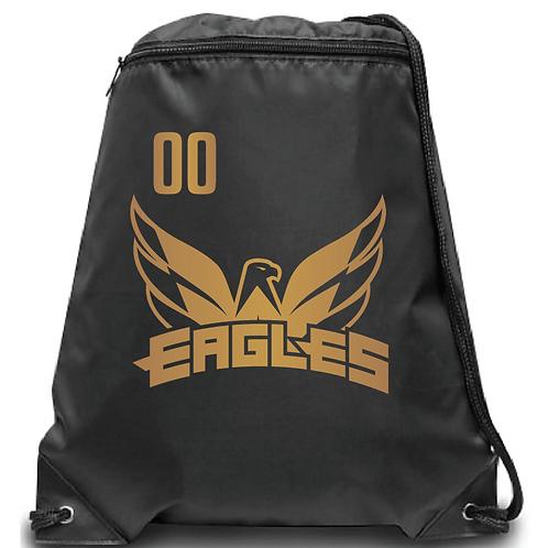 U15 Eagles Zippered Drawstring Backpack