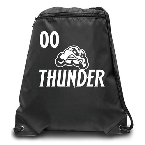 Thunder Zippered Drawstring Backpack