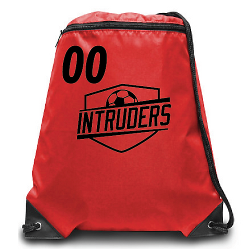 Intruders Zippered Drawstring Backpack