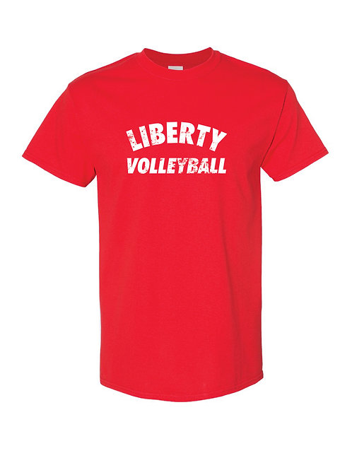 Liberty High School Volleyball Distressed