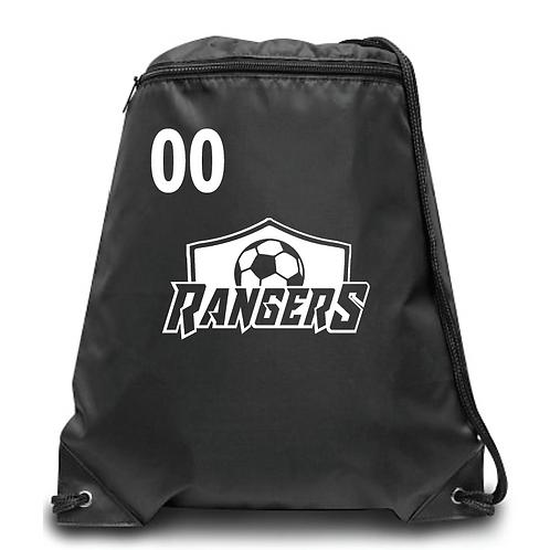 Rangers  Zippered Drawstring Backpack
