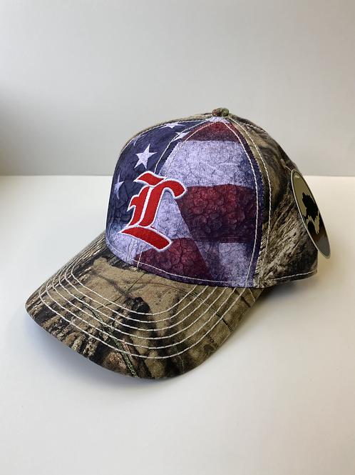 Mossy Oak/American Flag Liberty L Cap