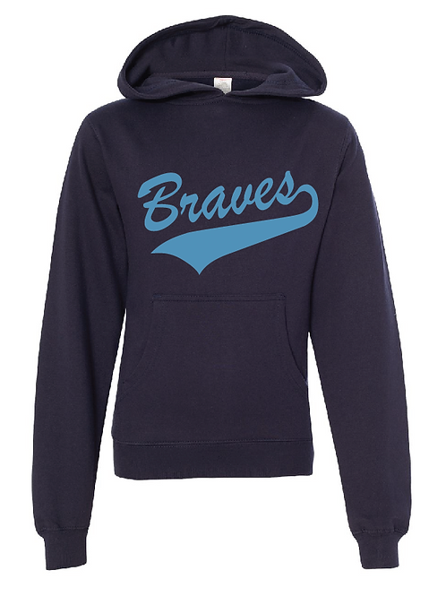 Unisex Fleece Hoodie Navy - Braves