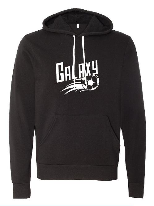 Unisex Fleece Hoodie - Galaxy Soccer
