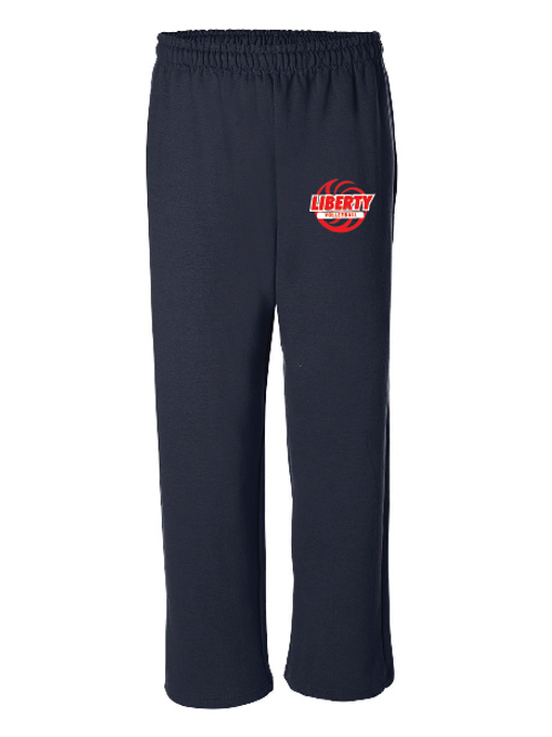 Liberty Volleyball red/white design - Open Bottom Sweatpants w/ Pocket - G18300