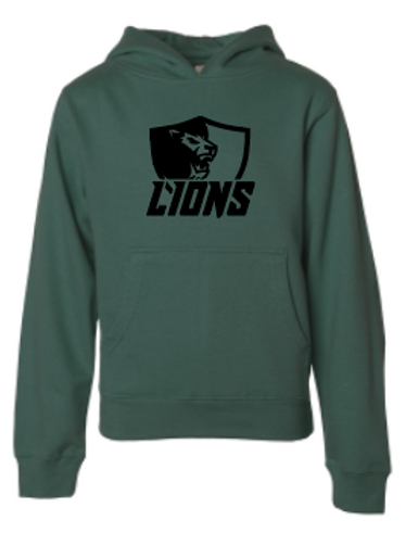 Youth Fleece Hoodie - Lions Soccer