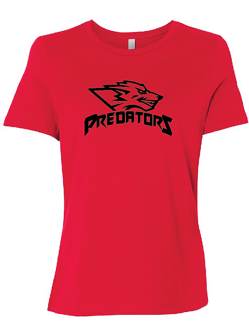 Predators Women's Relaxed Jersey Short Sleeve Tee